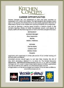 Vacancy advert KC VN staff 1