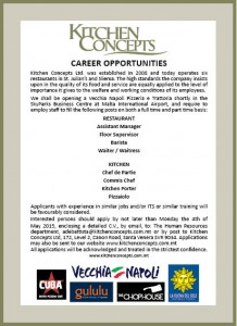 Vacancy advert KC VN staff 1
